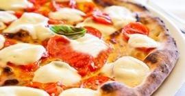 pizza con mozzarella senza lattosio