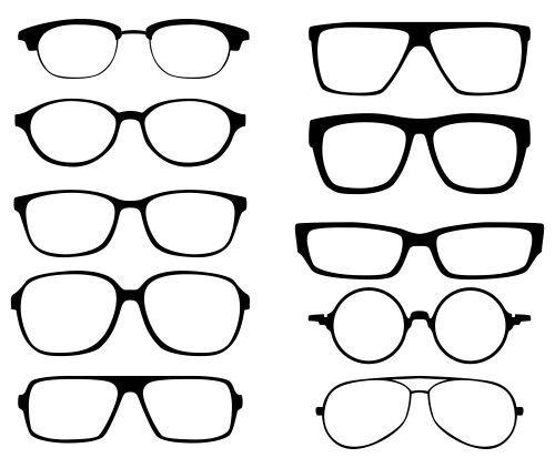una foto con varie montature diverse per occhiali