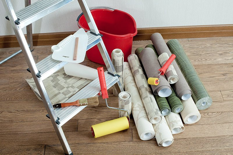 Wall coverings and supplies for applying them