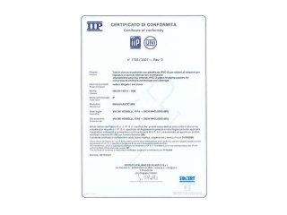 certificato tubo rigido