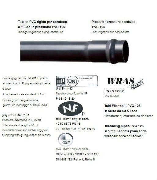 tubo pvc