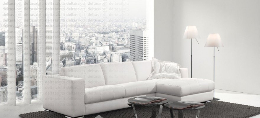 divano pelle bianco