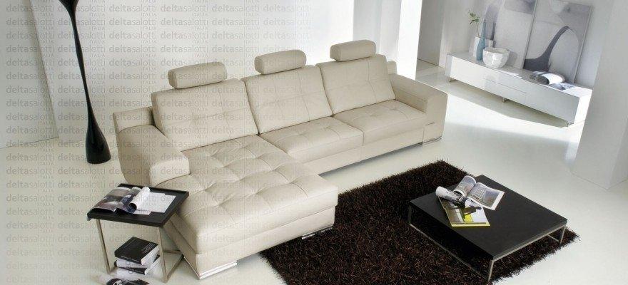 divani pelle bianco