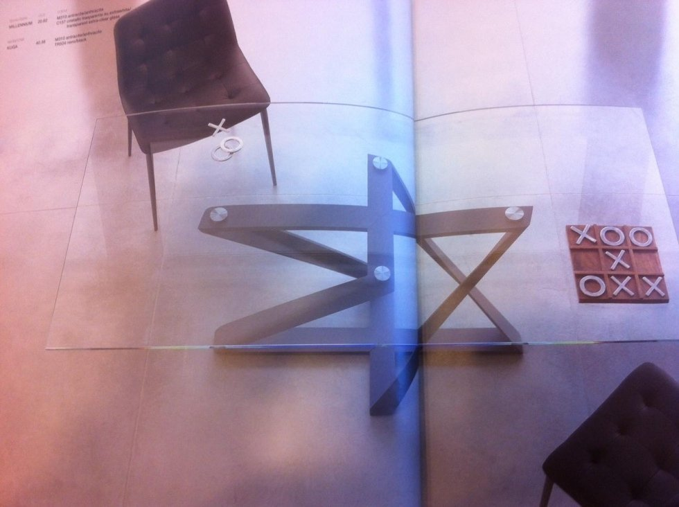tavolo vetro space