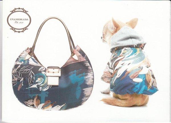 borsa e vestito cane in abbinato