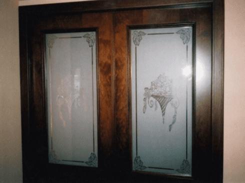 porta in vetro, porte in legno, legno