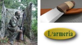 vendita pugnali da caccia, vendita attrezzatura mimetica, tende per osservazione