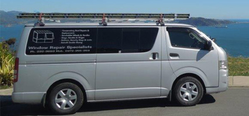 Service van of Wellington's Window Repair Specialists