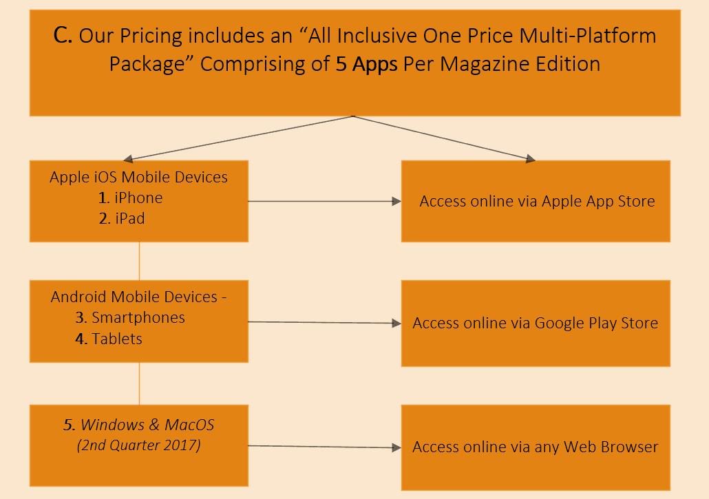 Functional Chart  for Media Blender magazine app