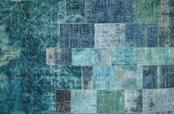 tappeto Vintage azzurro
