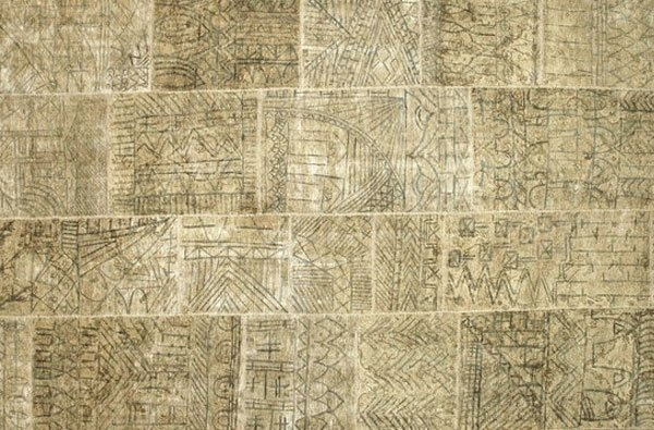tappeto Vintage dipinto a mano