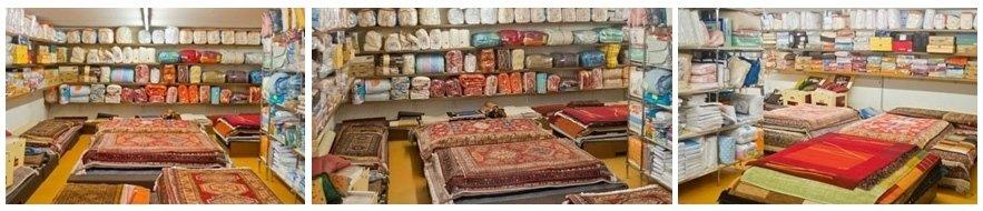 esposizione tappeti moderni etnici