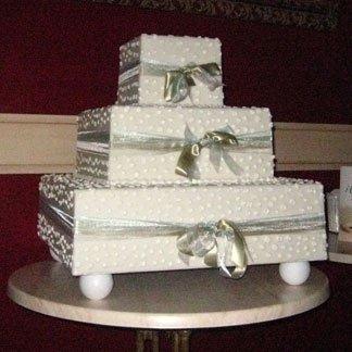 torta nuziale base quadrata