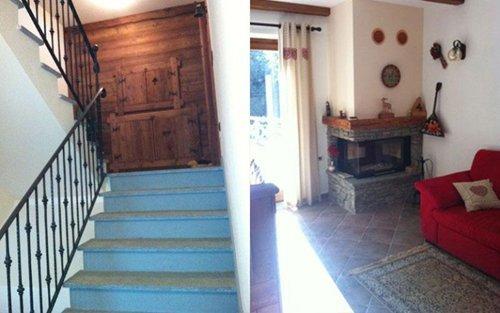 soggiorno con scale interne