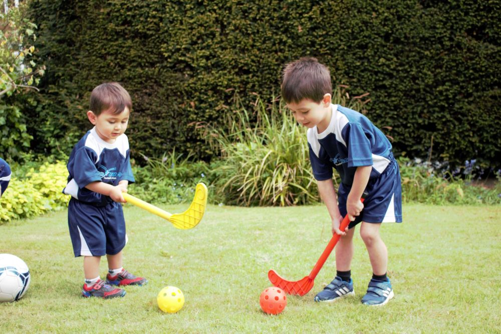 Early Development - Teaching hockey.