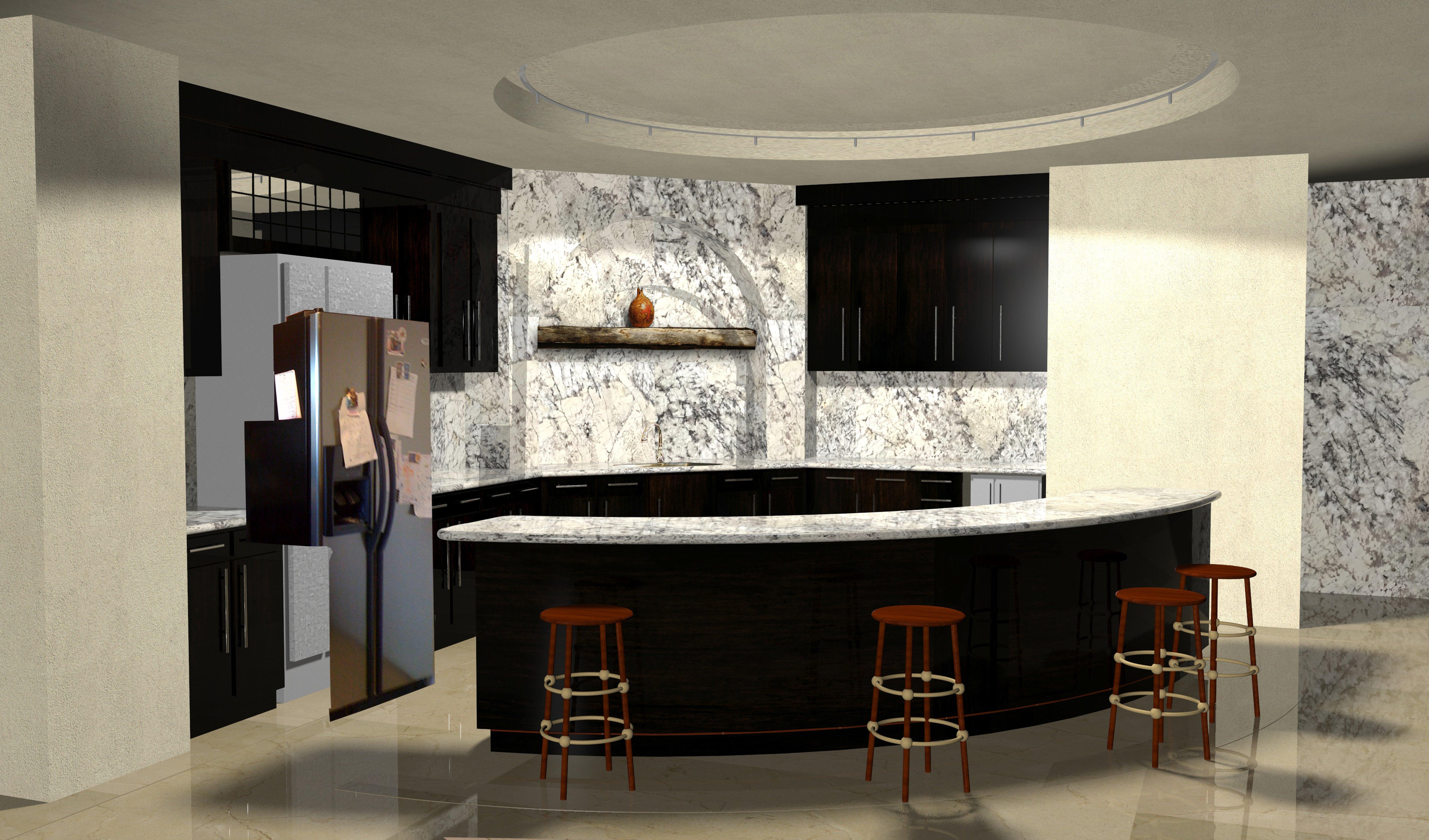 Azurite una fusi n milenaria for Simulador cocinas 3d