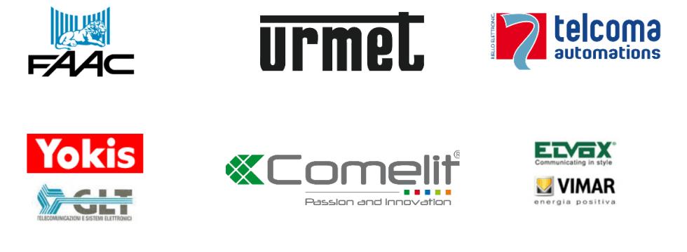 sistema divisioni, Faac, Urmet, Telcoma Automations, Yokis, GTL, Comelit, Elvox, Vimar