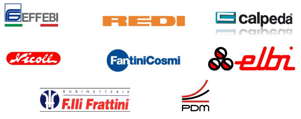 termoidraulica, Effebi, Redi, Calpeda, Nicoll, Fantini Cosmi, Elbi, F.lli frattini, PDM