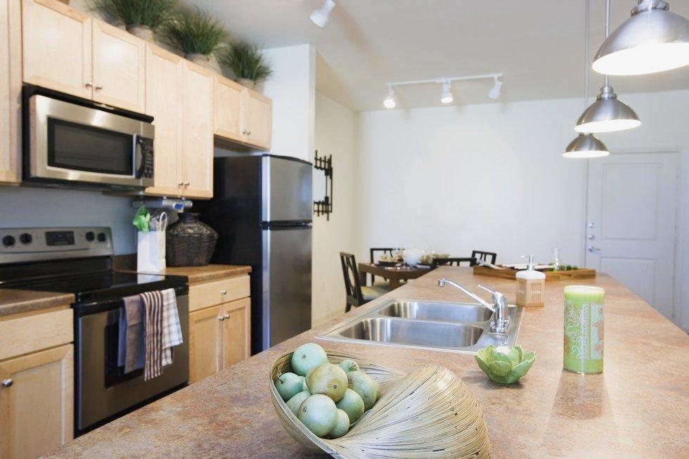 Impianto di illuminazione in una cucina moderna