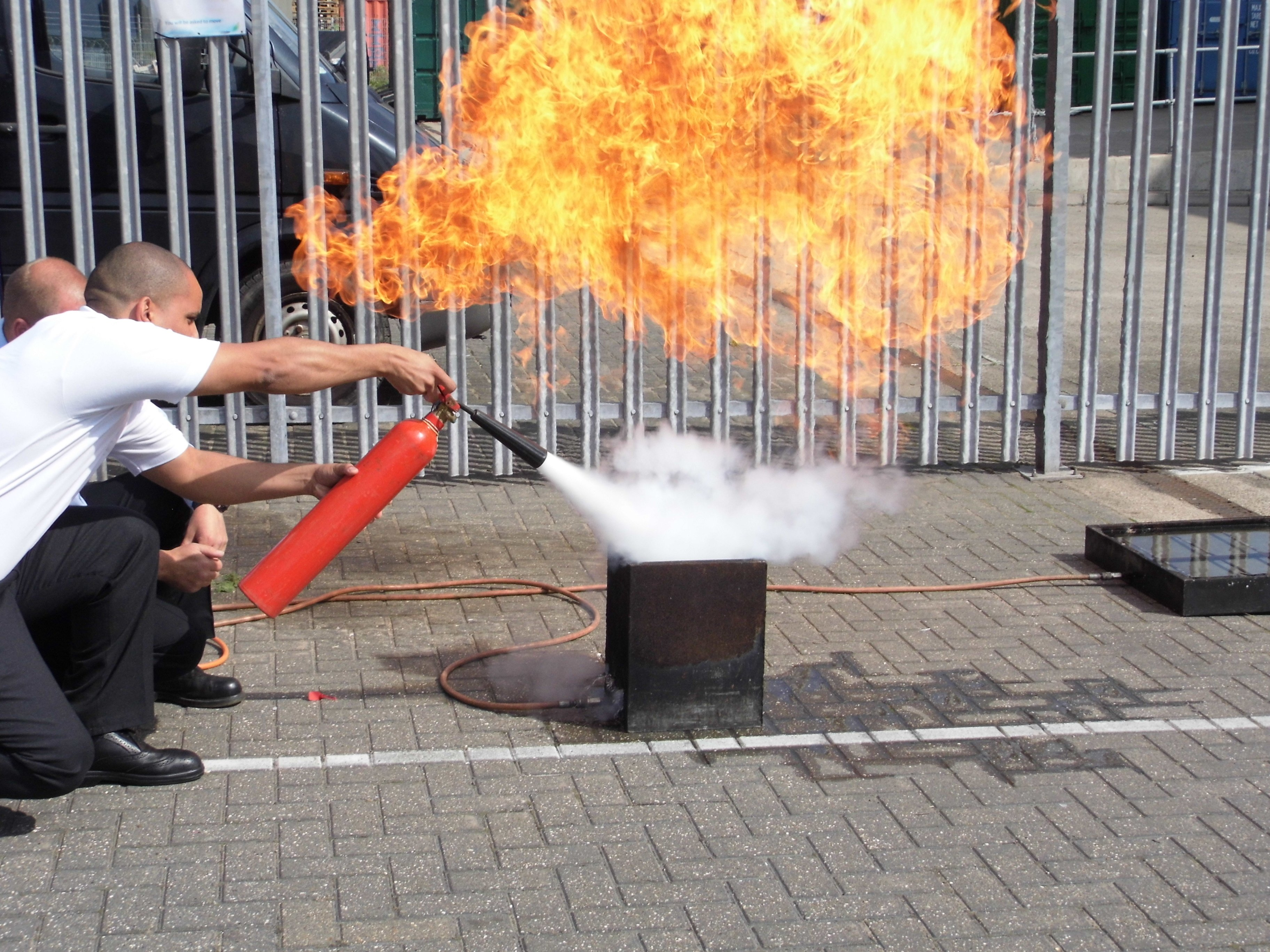 Fire Marshal Training, live fire training @ Leicester