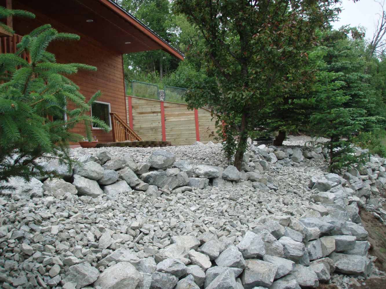 company's landscaping project work