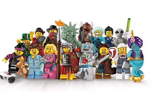 Serie sei Lego Mini Figures