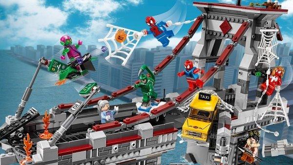 76057 SPIDER-MAN LA BATTAGLIA SUL PONTE DEI WEB WARRIORS