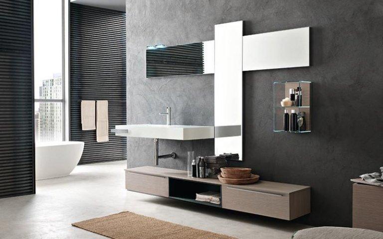 armadio bagno in rovere