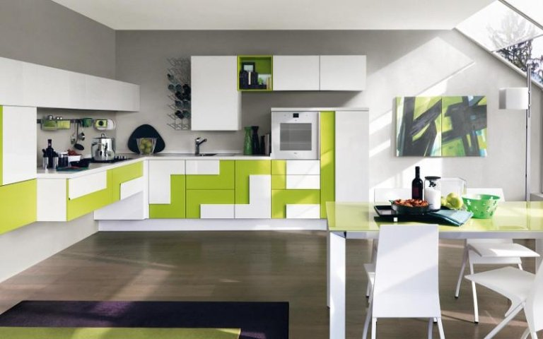 cucina verde pistacchio