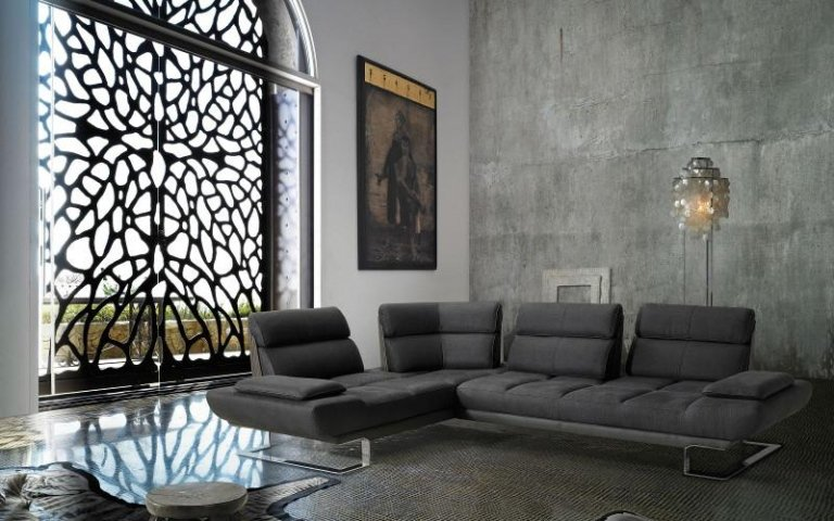 divano penisola grigio