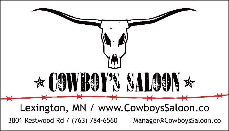 Major Sponsor Cowboy's Saloon. Thank You!