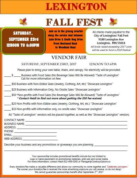 Lexington Fall Festival 2016 Vendor Fair