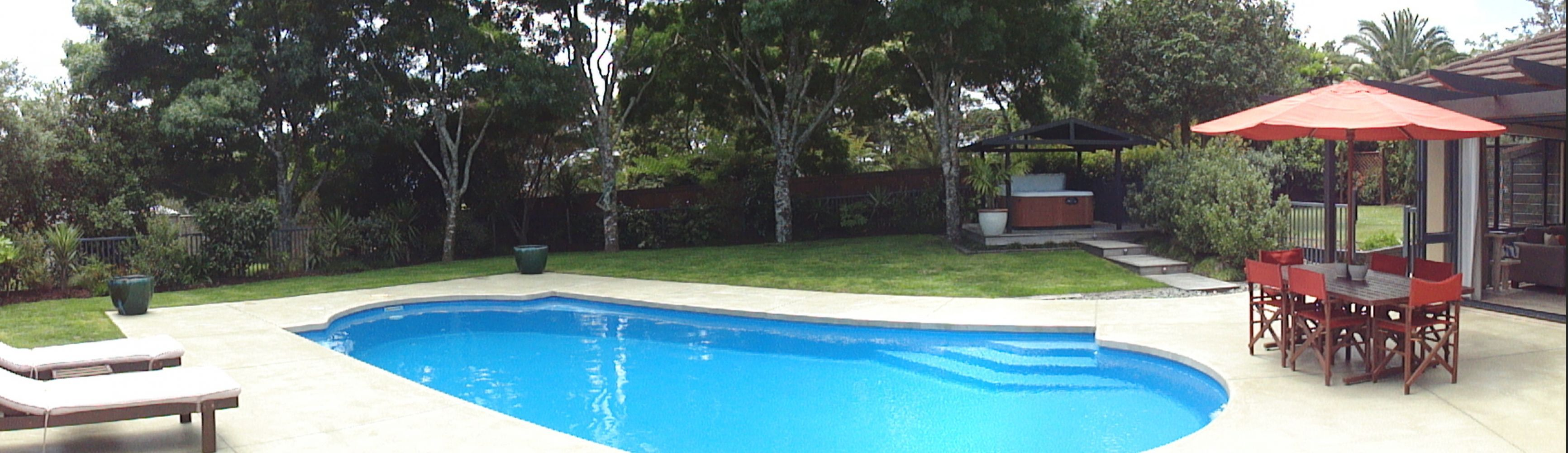 Pool concrete construction in Auckland