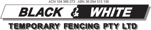 Black and White Fencing logo