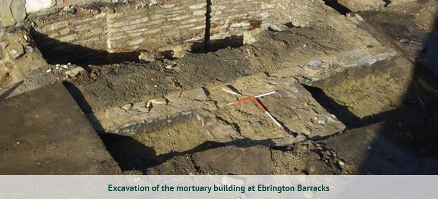 Excavation of the mortuary building