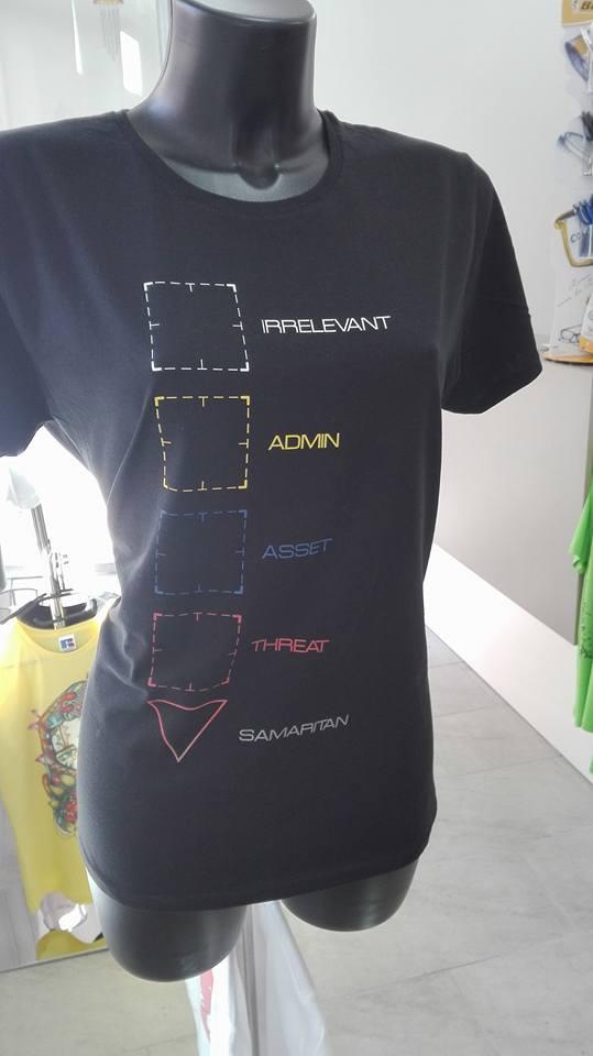 T-shirt nera personalizzata