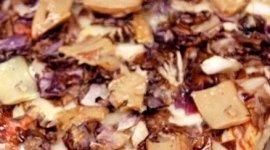 pizza stracchino radicchio e funghi