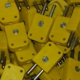 connettore maschio standard giallo