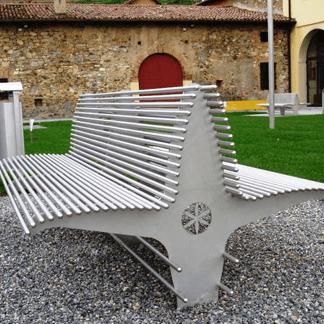 Panchina in acciaio inox