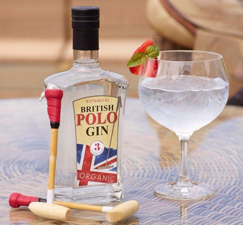 Bottle of British Polo Botanical Gin