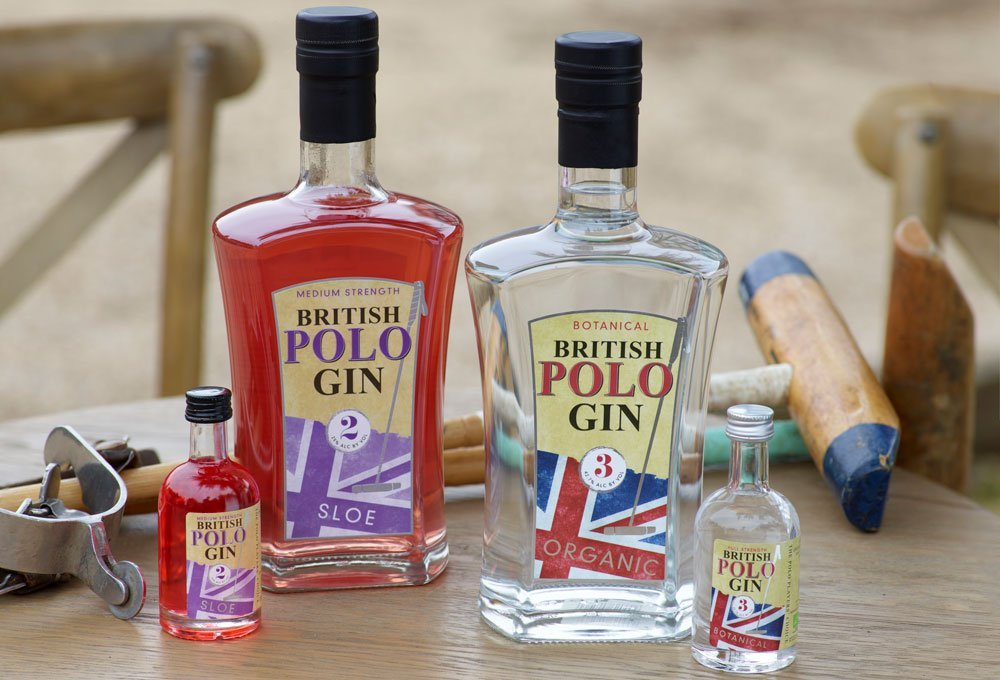 Bottle of British Polo Botanical Gin