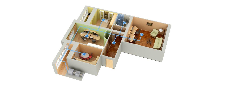appartamento con vista dall'alto