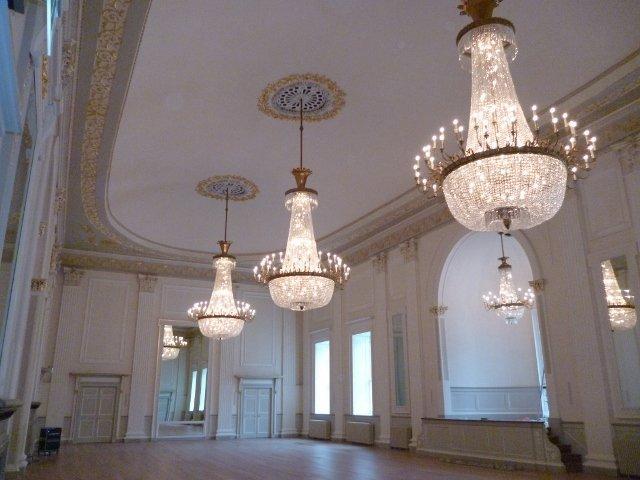 three chandelier