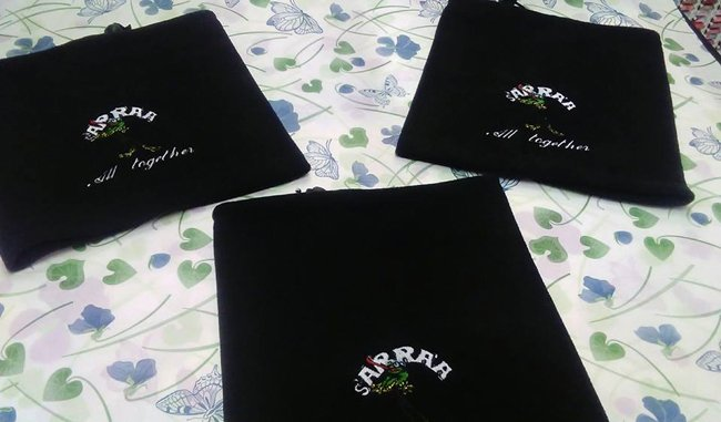 personalizzazione asciugamani neri