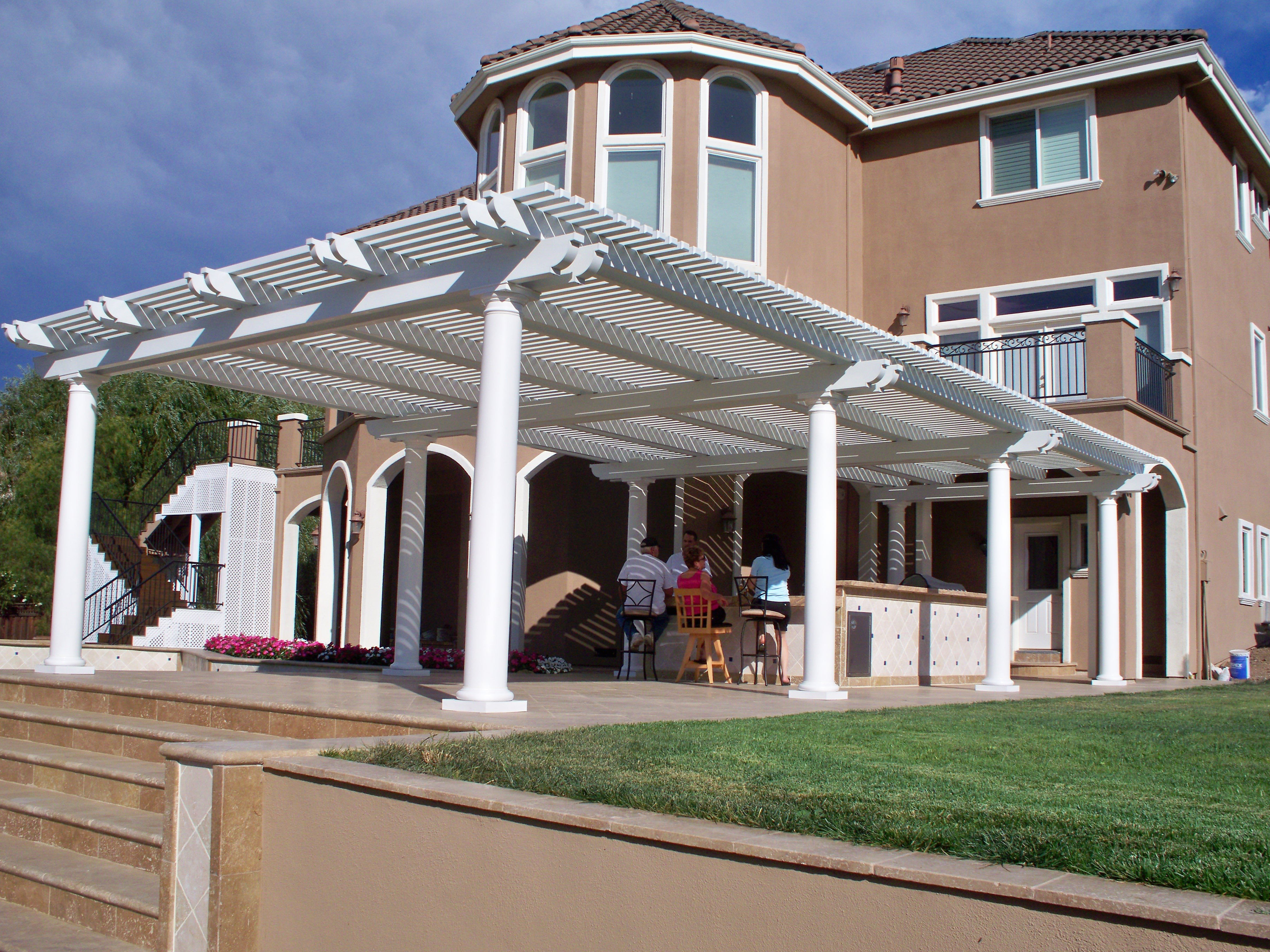 Of The Lattice Tubes. Lattice Patio Covers Provide A Comfortable  Environment While Moderating The Seasons Temperatures.
