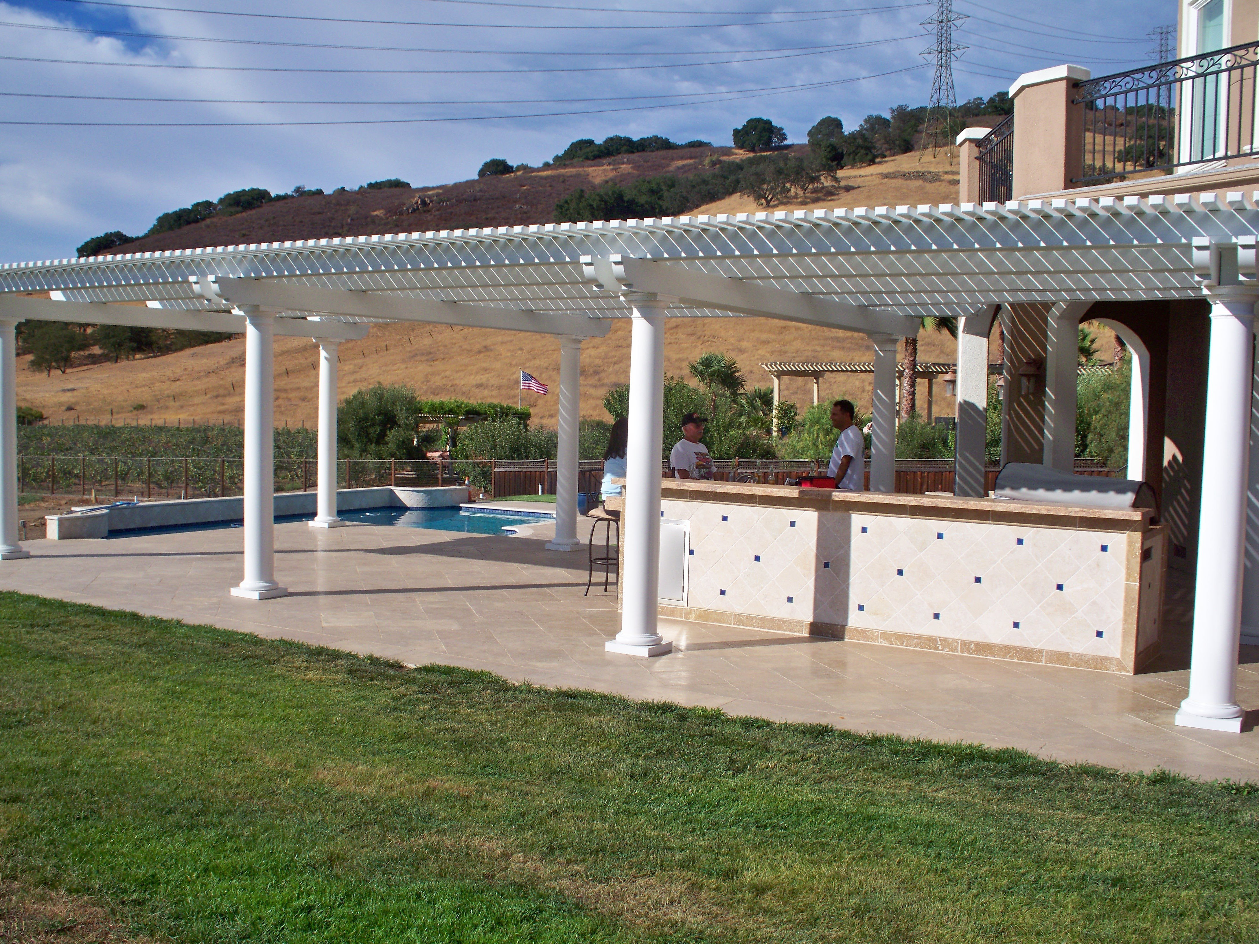 Lattice Patio Covers Allow You To Select The Amount Of Shade Or Sunlight  You Desire By Adjusting The Size And Spacing Of The Lattice Tubes.
