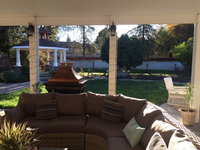 Couch Under Outdoor Patio Cover, Concord CA