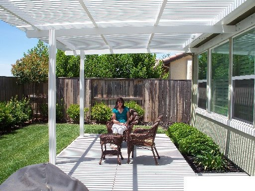 White Louvered Patio Cover, Concord CA
