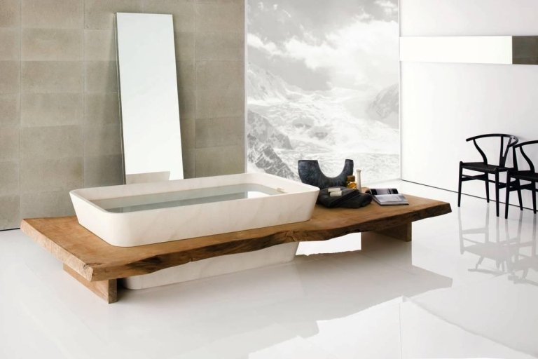 NEUTRA vasca e legno massello