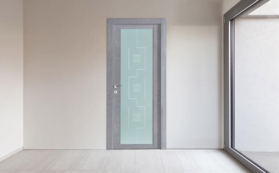 porta per interni a vetro